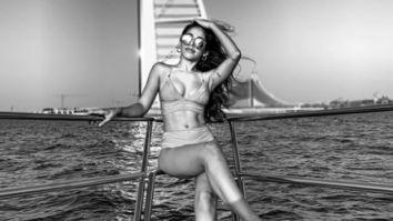 Alaya F looks breathtaking as she poses in a bikini on a boat