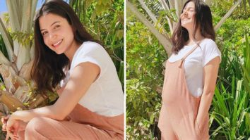 Anushka Sharma flashes a radiant smile basking in the sunlight as she poses with her baby bump