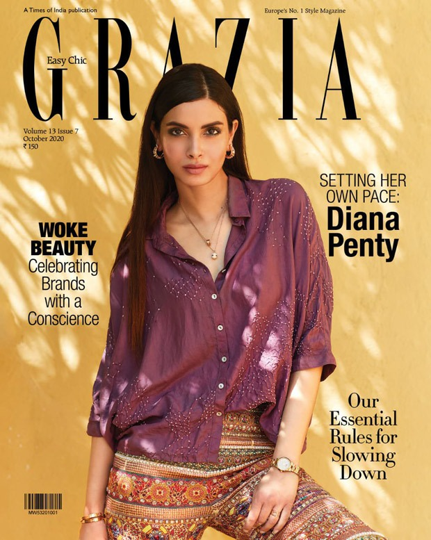 Diana Penty looks chic on the October issue of Grazia India