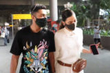 Gauahar Khan and Zaid Darbar spotted at Airport