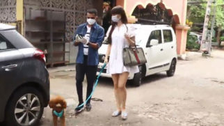 Giorgia Andriani spotted with her pet dog in Juhu