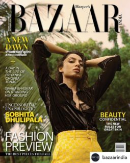 Sobhita Dhulipala On The Covers Of Harper's Bazaar