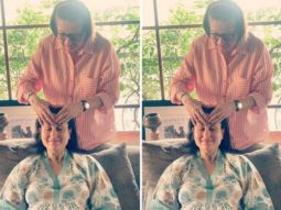 Mom-to-be Kareena Kapoor Khan is all smiles as she gets a head massage from her mother Babita