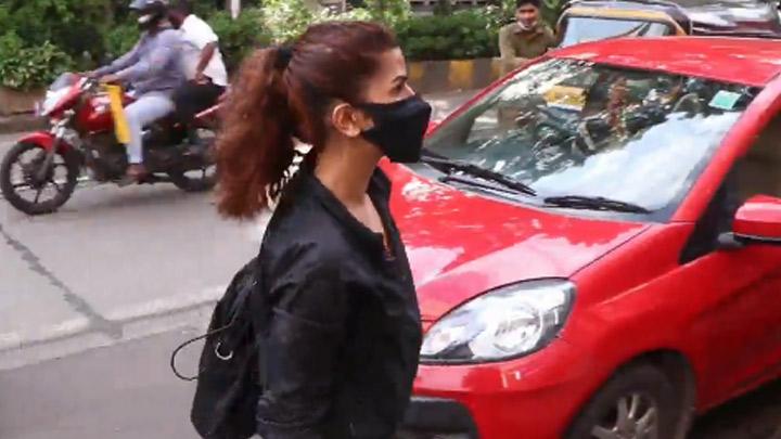 Nimrat Kaur spotted at Bandra