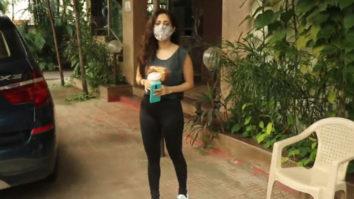 Nushrat Bharucha spotted at Kwan office Andheri