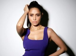 Nushrratt Bharuccha looks ravishing in a purple high slit dress