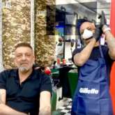 Sanjay Dutt is back in Mumbai from Dubai; gets a new hairdo for his next