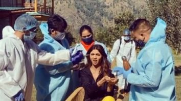 Shilpa Shetty does the sanitisation drill on the sets of Hungama 2, shows the new normal on a film set