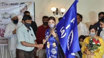 Actor Payal Ghosh, who accused Anurag Kashyap of sexual harassment, joins Ramdas Athawale's Republican Party of India(A)