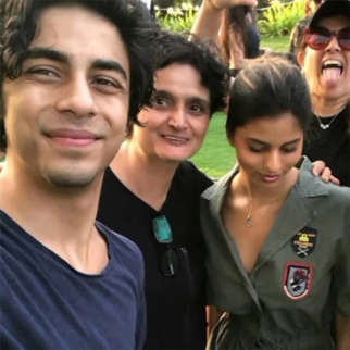 Aryan Khan is all smiles in this selfie with sister Suhana Khan and friends