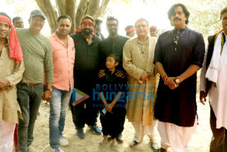 On the sets of the movie Dehati Disco