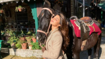 """Jacqueline Fernandez shares a glimpse of her """"Happy Place"""" as she starts shooting for Bhoot Police"""