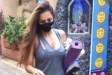 Malaika Arora spotted at Diva Yoga Bandra