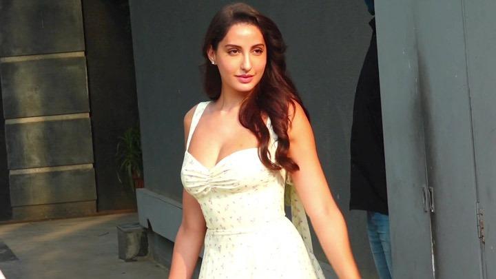 Nora Fatehi and Lara Dutta spotted at Pooja Films Juhu