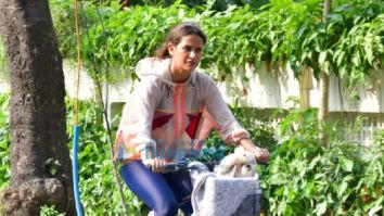 Photos: Aisha Sharma spotted cycling in Bandra