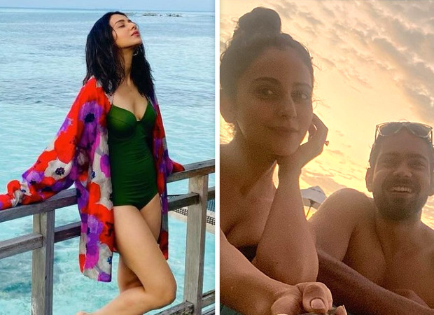 Rakul Preet Singh enjoys Maldives vacation in olive green swimsuit; shares a photo with her brother