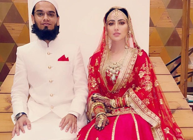 Sana Khan looks regal in bridal lehenga shares first wedding