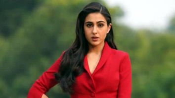 Sara Ali Khan looks ravishing in red for the Coolie No. 1 trailer launch