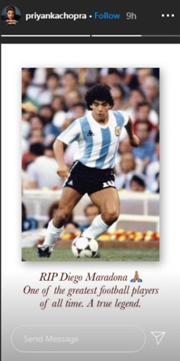 Shah Rukh Khan, Ranveer Singh, Ajay Devgn, Priyanka Chopra and others pay tribute tofootball legendDiego Maradona