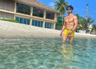 Tiger Shroff flaunts his taut muscles in yellow shorts