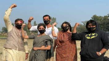 John Abraham, Divya Khosla Kumar, Milap Zaveri, Gautami Kapoor strike a pose as they shoot climax of Satyameva Jayate 2