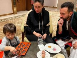 Kareena Kapoor Khan and Saif Ali Khan observe the newest connoisseur of desserts, Taimur Ali Khan