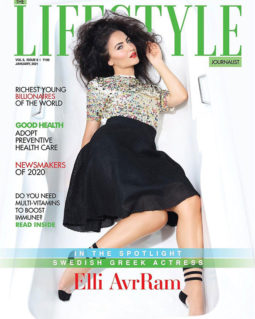 Elli AvrRam on the cover of Lifestyle, Jan 2021