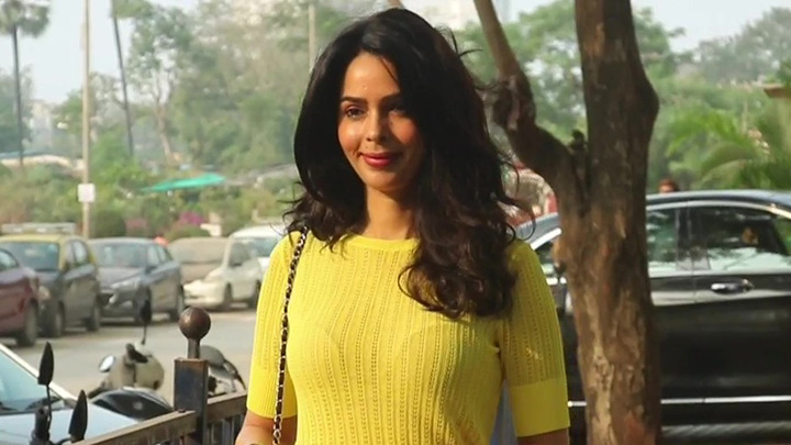 Mallika Sherawat spotted at a clinic in Andheri