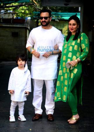 Photos: Saif Ali Khan, Kareena Kapoor Khan, Taimur Ali Khan and others snapped at annual Christmas lunch at Kapoor residence