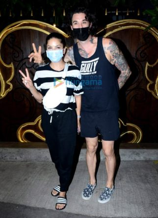 Photos: Sunny Leone spotted with husband Daniel Weber at Myra spa in Juhu