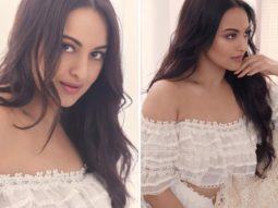 Sonakshi Sinha is an absolute vision in Rs. 45k white off-shoulder top and skirt