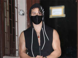 Tiger Shroff snapped at a dubbing studio in Bandra