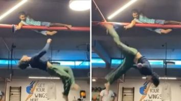 Tiger Shroff does an impressive 10 ft overhead kick; says it is time to take the roof higher