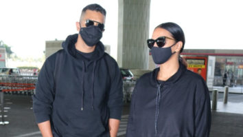 Neha Dhupia and Angad Bedi spotted at Airport