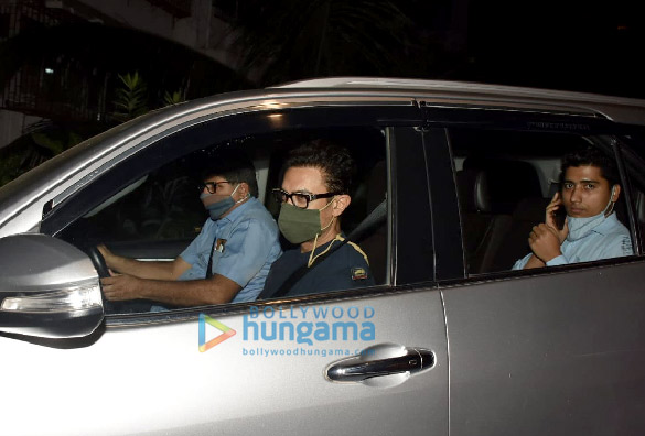 Photos Aamir Khan and Amitabh Bhattacharya snapped at Imraan Khan's house in Bandra (2)