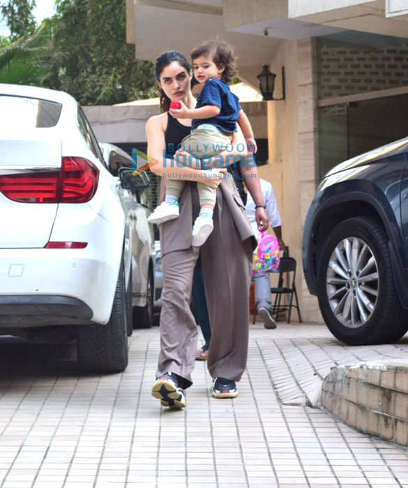 Photos: Gabriella Demetriades spotted in Bandra with her son