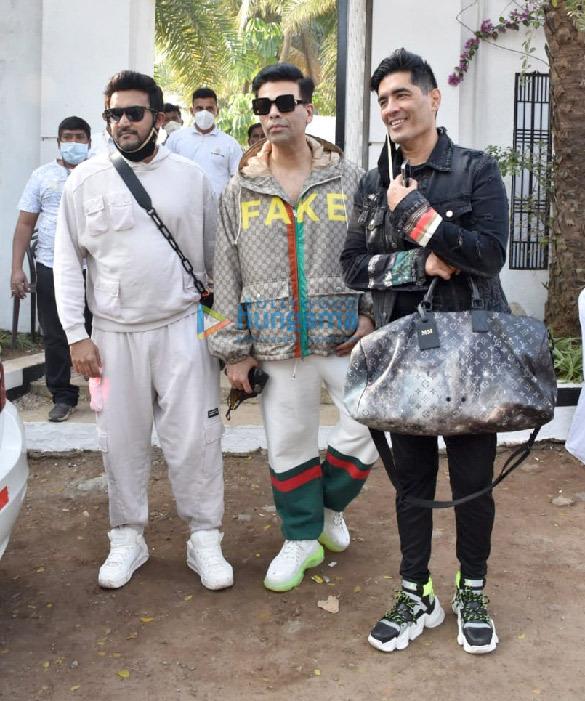 Photos: Karan Johar, Manish Malhotra, Shashank Khaitan spotted leaving the Varun Dhawan's wedding venue