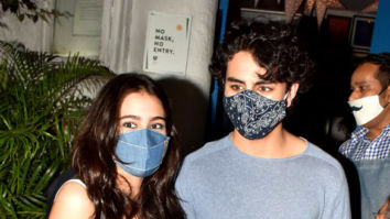 Photos: Sara Ali Khan, Ibrahim Ali Khan snapped at Olive Bar in Khar