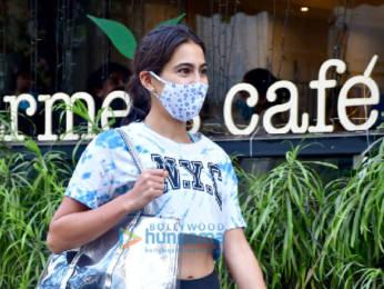 Photos: Sara Ali Khan spotted at The Farmer's Cafe