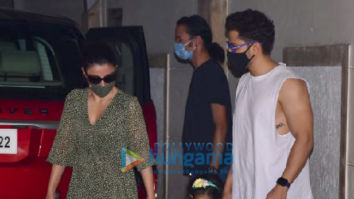 Photos: Soha Ali Khan and Kunal Kemmu snapped with their daughter at Kareena Kapoor Khan's house