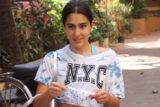 Sara Ali Khan spotted at Gym in Khar