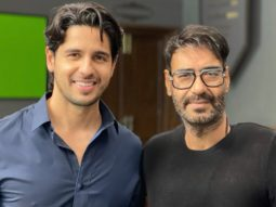 Sidharth Malhotra meets Ajay Devgn on the sets of Mayday