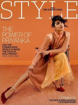 Priyanka Chopra Jonas on the cover of The Sunday Times Style, Jan 2021