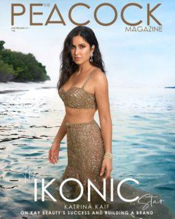 Katrina Kaif on the cover of The Peacock, Jan 2021