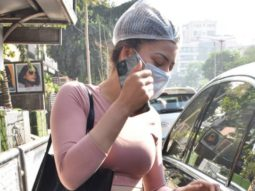 Urvashi Rautela tries to hide from the paparazzi as we spotted her at Juhu