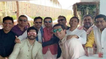 Varun Dhawan strikes a pose with his groomsmen ahead of his wedding with Natasha Dalal