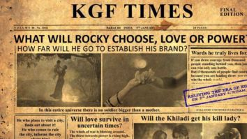 Hombale Films launches KGF Times ahead of the release of KGF Chapter 2 teaser; newsletter to chronicle BTS pictures and trivia from the sets