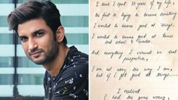 Sushant Singh Rajput's sister shares a handwritten note by the actor where he gets introspective of his life