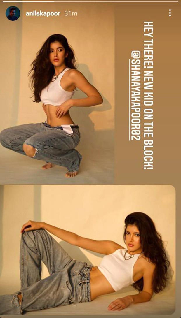 Shanaya Kapoor makes her Instagram handle public; Anil Kapoor says new kid on the block
