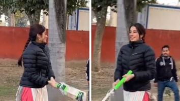 Janhvi Kapoor shows off her 'pro' batting batting skills in latest video